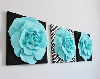 Elegant Wall Decor,Flower Wall Decor,Living Room, Bedroom Wall,Shabby Chic,Living  Room, Bedroom Wall Decor,Flower Wall Art,Wool Felt Flower