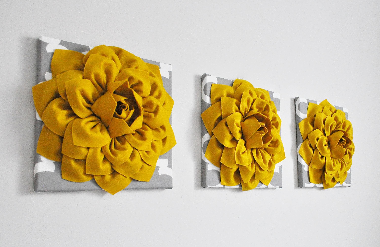 Modern Wall Art/Honey Mustard Yellow/Gray White Moroccan Print | Etsy
