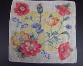 Vintage Silk Handkerchief Floral (vh95)