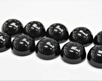 Details about  /Wholesale Lot Natural Onyx Round 9X9 MM Size Black Onyx Cabochon