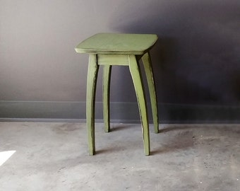 """17"""" Accent Table with Green Distressed Finish"""