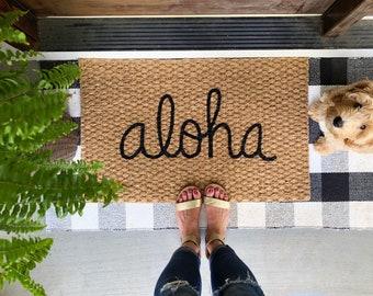 Aloha Welcome Mat! Fun doormats for fun people!