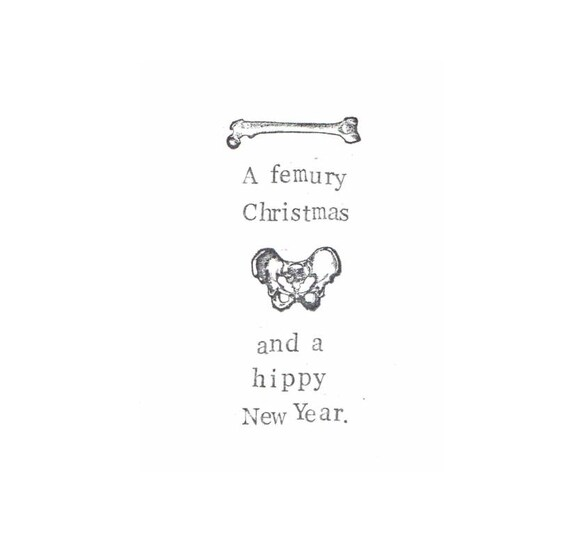 A Femury Christmas And Hippy New Year Card Funny Anatomy Etsy