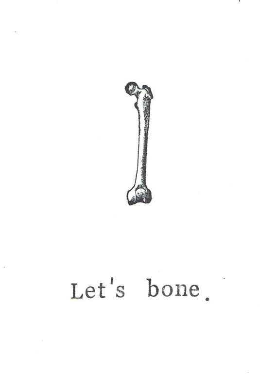 Let's Bone Card | Funny Skeleton Anatomy Science Love Adult Sexy Medical  Pun Humor Nerdy Gothic Halloween Card Valentine For Him Men
