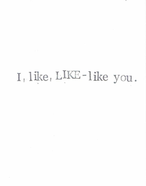 I Like LIKE-like You Minimalist Love Card | Funny Dating Humor Sarcastic Hipster Valentine's Day Boyfriend Girlfriend Men For Him Her