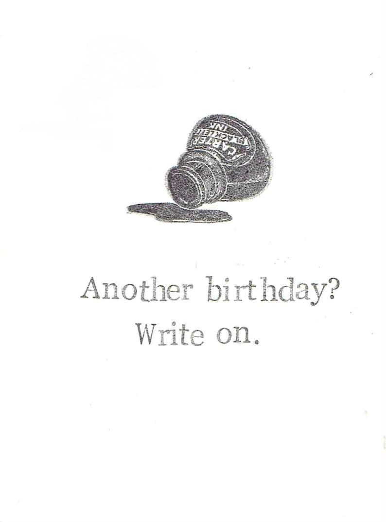 Geburtstagskarte Schreiben Lustig.Ein Weiterer Geburtstag Schreiben Auf Schriftsteller Geburtstagskarte Lustige Geburtstag Karte Poesie Englischlehrer Literatur Humor Wortspiel Fur