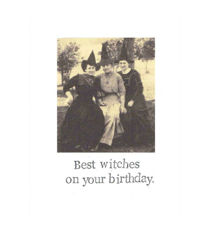 witch birthday Best Witches On Your Birthday Funny Vintage Witch Birthday | Etsy witch birthday
