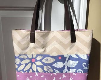 Medium Tote w/Leather Handles