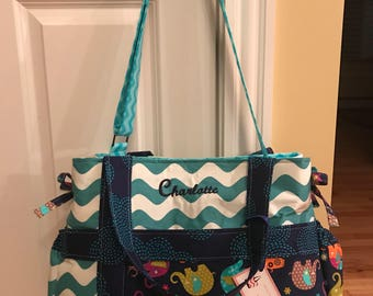 Baby Girl pr Boy Diaper Bag - Choose Your Own Fabric