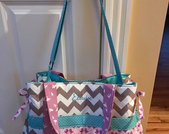 Baby Girl Diaper Bag - Choose Your Own Fabric