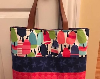 Buoy Summer Tote w/Pockets