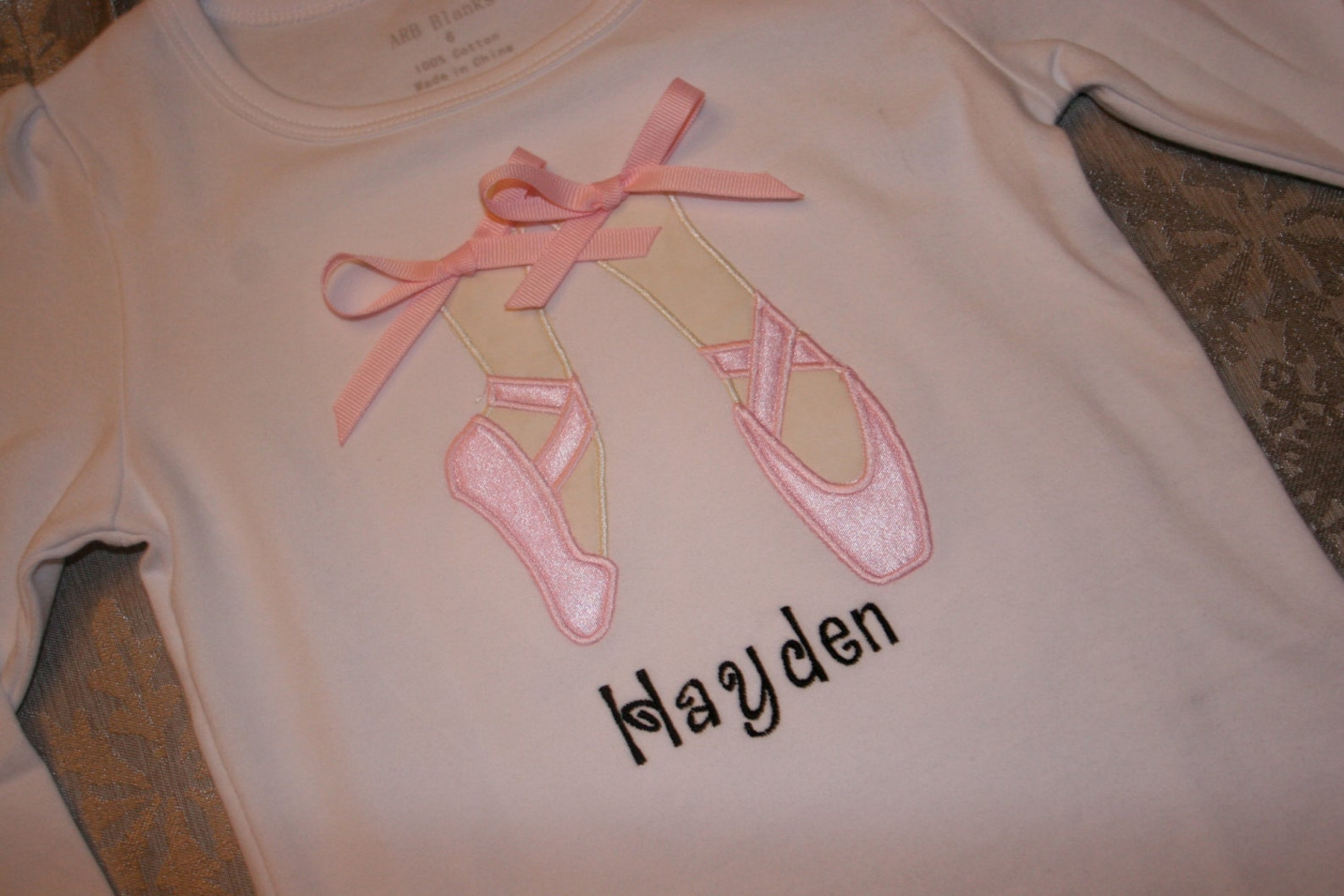ballet shoes personalized shirt