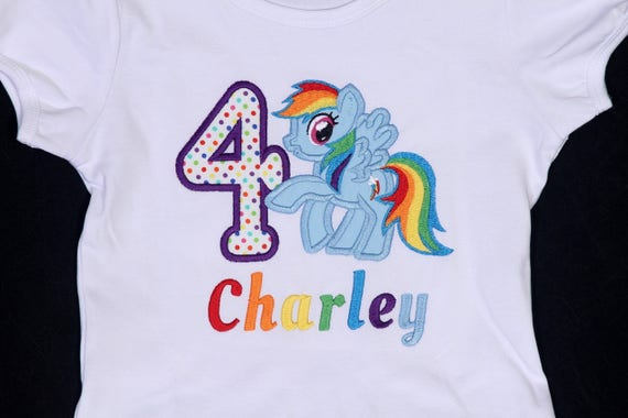 Rainbow Dash Inspired Birthday Shirt