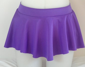Girls Child Gymnastics Ballet Dance Ice Skating Sab Skirt Purple Eggplant Shiny by Elegant Sportswear