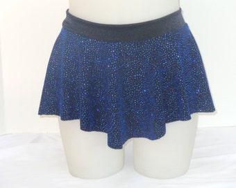 Girls Child Gymnastics Ballet Dance Ice Skating Sab Skirt Blue Sparkle Glitter by Elegant Sportswear