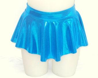 Girls Child Gymnastics Ballet Dance Ice Skating Sab Skirt Aquamarine Blue Shiny by Elegant Sportswear