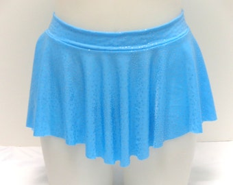 Girls Child Gymnastics Ballet Dance Ice Skating Sab Skirt Aquamarine Blue Sparkle by Elegant Sportswear