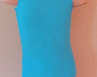 Gymnastics Ballet Sky Blue Girls Leotard by Elegant Sportswear