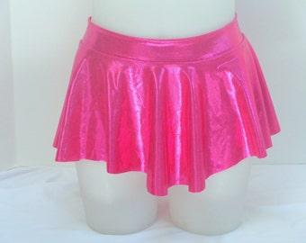 Girls Child Gymnastics Ballet Dance Ice Skating Magenta / Hot Pink Sab Skirt Shiny by Elegant Sportswear
