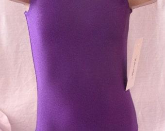 Gymnastics Ballet Purple Eggplant Girls Leotard by Elegant Sportswear