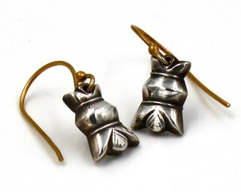 Fine Silver TribalPom Pom Blossom Earrings with 24Gold Vermeil Ear Wires