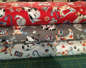 Adopt Me Take Me Home Rescue Me I Spy Dog Fabric By the Fat Quarter