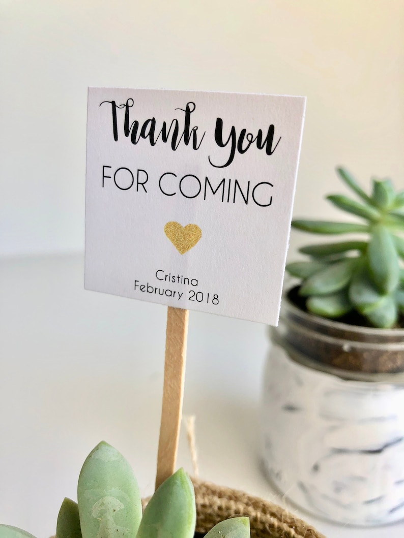Custom Thank You For Coming Mini Succulent Favor Etsy
