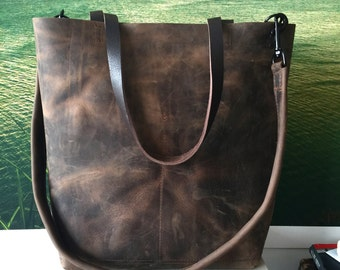 0ea85a398f26 Huge Sale -Dark Brown Leather Tote Bag - leather shopper - Brown Leather  Travel Bag - distressed dark brown Leather Market bag- Sale