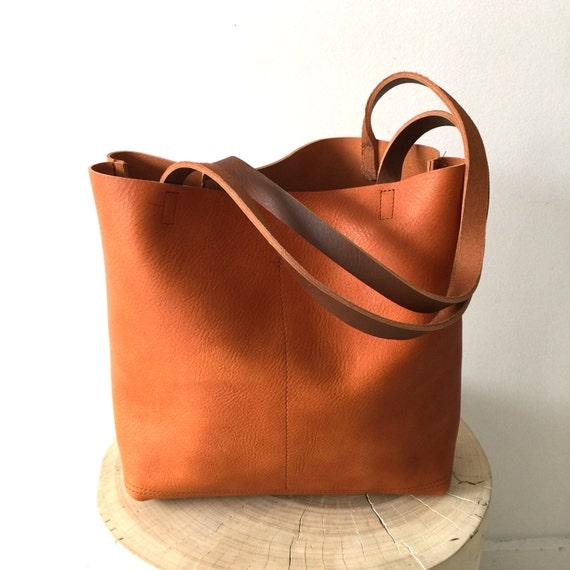 ef53e210dea7 Brown Leather Tote Bag camel brown Leather Bag Large brown