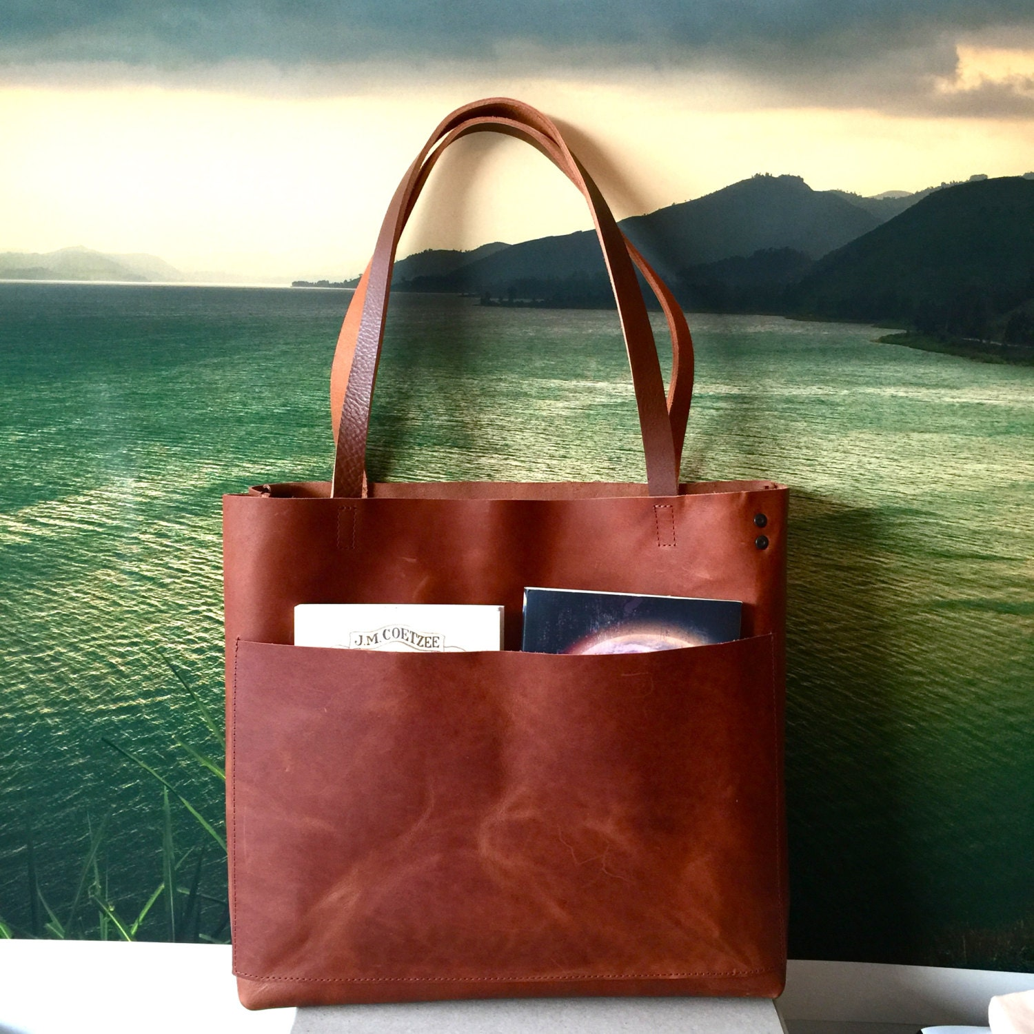 cd2189e07e Sale Brown Leather Tote Bag Large brown leather bag