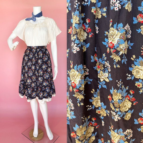 90's does 70's gunne sax style skirt little house