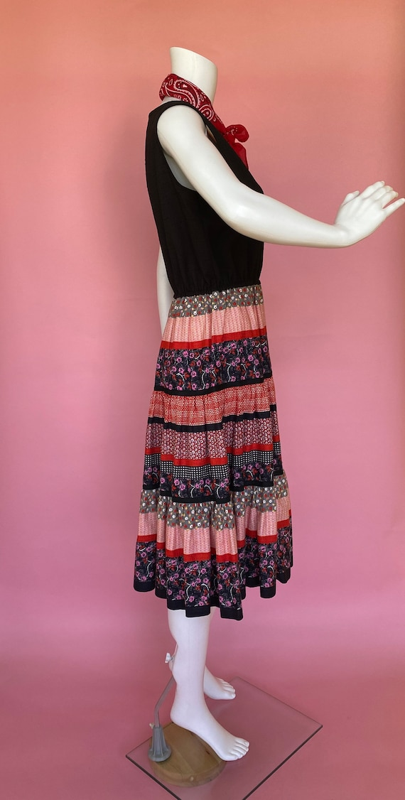 60's dress cute prairie square dance country west… - image 4