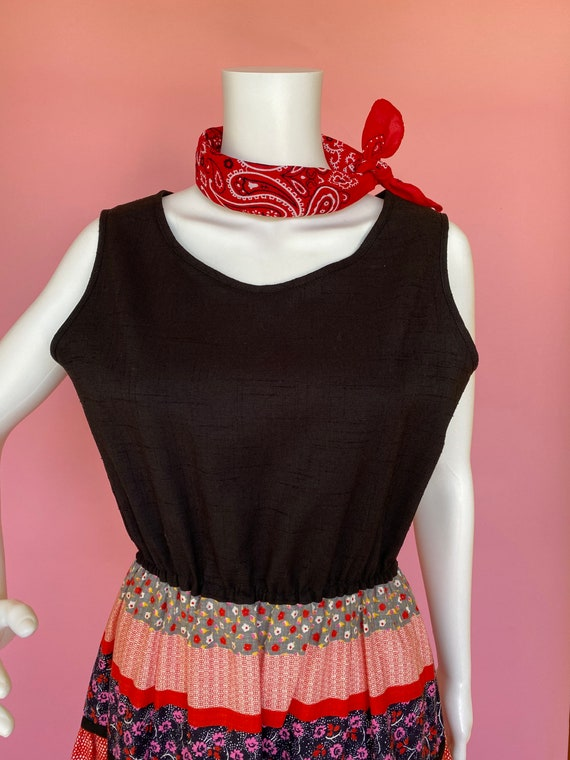 60's dress cute prairie square dance country west… - image 8