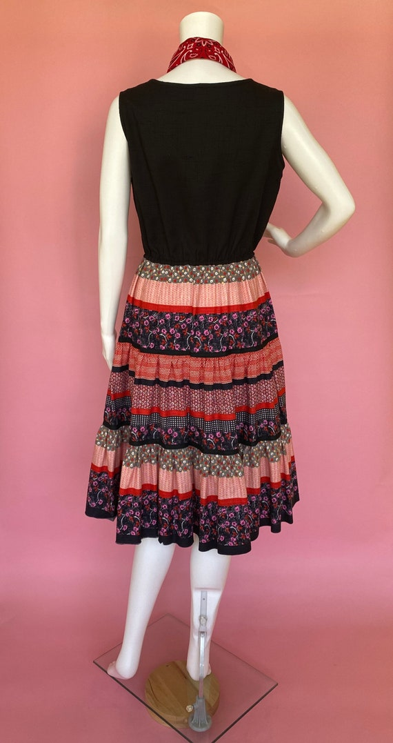 60's dress cute prairie square dance country west… - image 7
