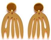 Gold Earring Laser Cut Earring Acrylic Earring Matisse Earring Flower Earring Statement Earring Abstract Shape Earring Acrylic Jewelry