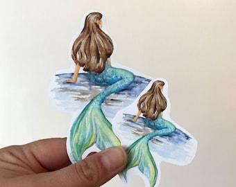 Mermaid Vinyl Sticker - For Water Bottles and Laptops