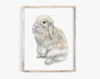 Lop rabbit painting | Etsy