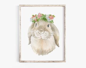 Lop Rabbit Painting Etsy
