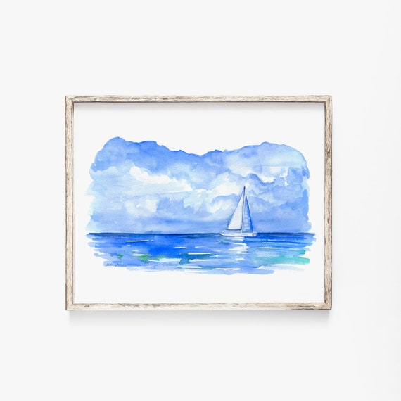 C COABALLA Sailing Watercolor Painting of Sailboats Cushion Protective Waterproof Laptop Case Bag Sleeve for Laptop AM028546 10 inch//10.1 inch