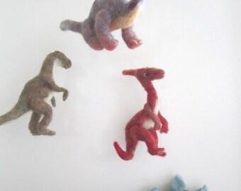 Dinosaur Baby Mobile// needle felted