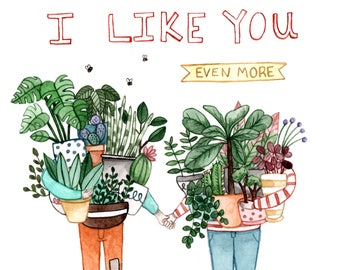 Like You More Than Plants Card