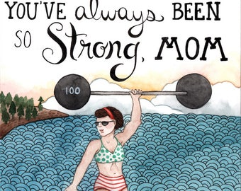 Strong Mom Mother's Day Card