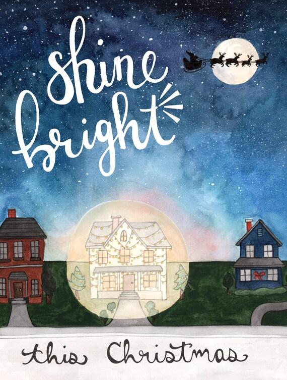 Shine Bright Christmas Card Box Set