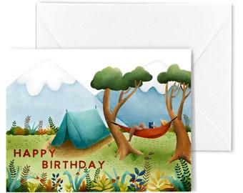 Hammock Birthday Card