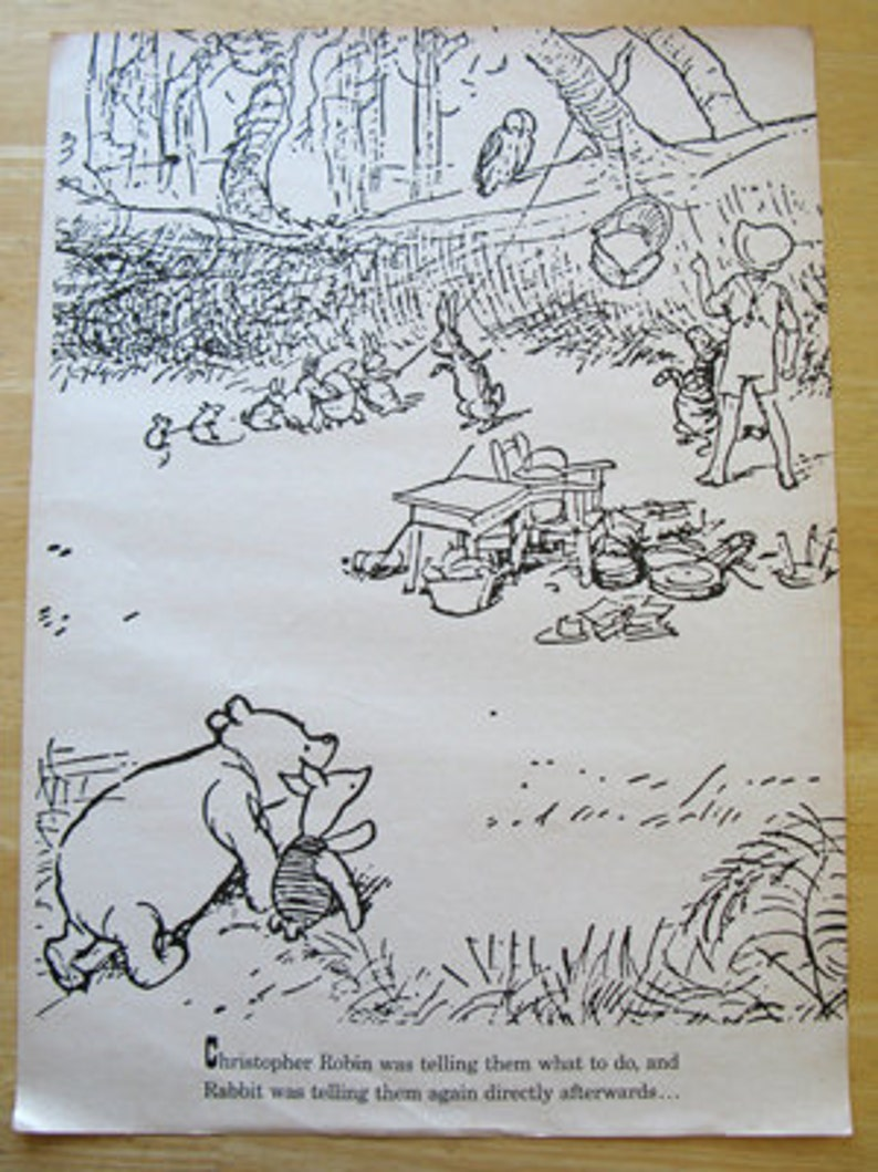Winnie the Pooh Oversized Coloring Book Page   Etsy
