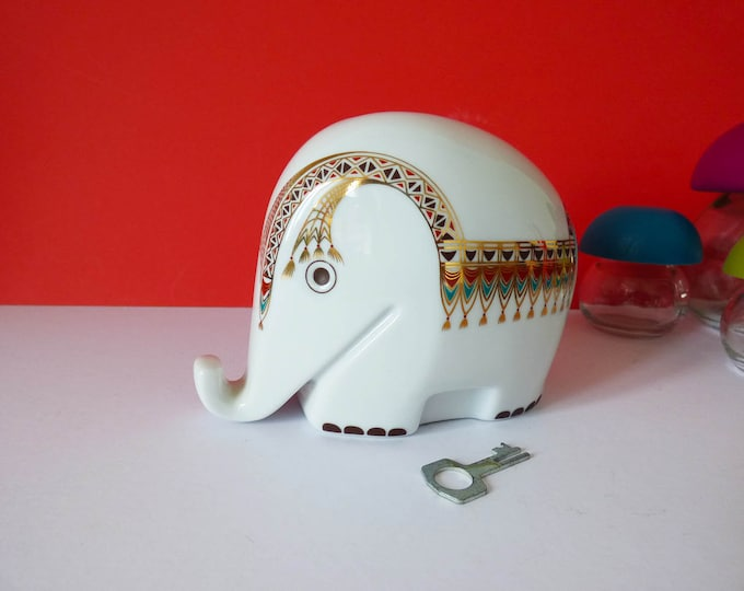 Colani Hochst ceramic Elephant money box Vintage