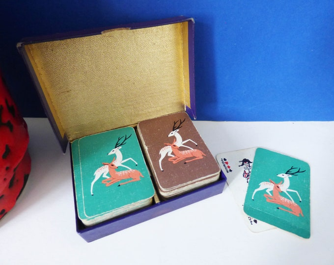 Small Playing cards with deer illustration