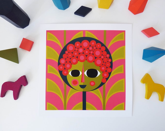 Flower Power by Jay Kaye 21cm Sq print illustration print