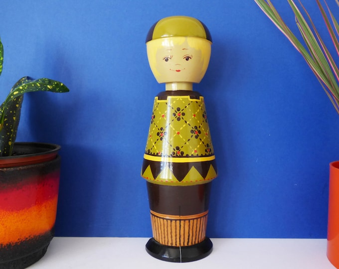 Wooden folk art doll wall decoration