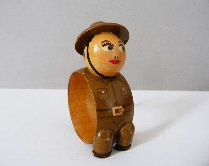 Napkin ring wooden Home Guard / Scout